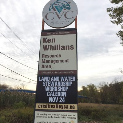 Ken Whillans sign