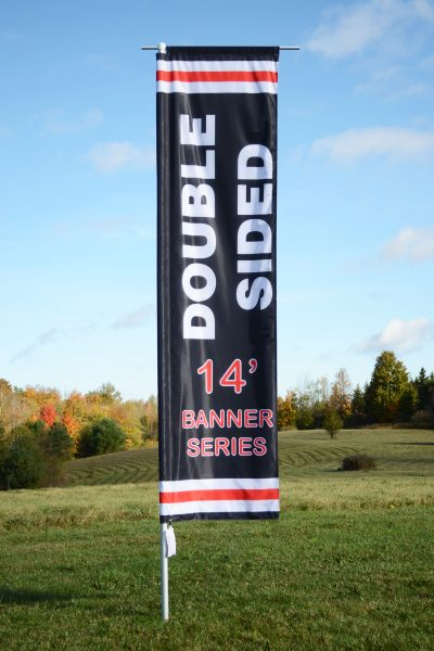 Double sided 14ft Flag Banner
